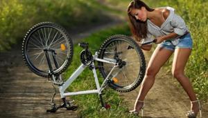 Подкачка шин велосипед
